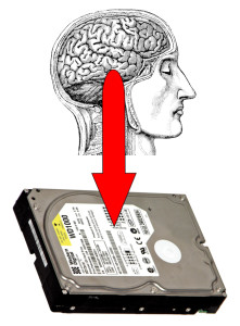 Singularity brain memories downloaded to hard drive